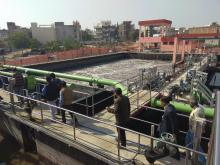 Visit of STP under Drvyavati river front development works during Training on River Basin Modelling (Jan 07-11, 2019 at Jaipur)