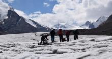 फिल वर्क इन ड्रंग ड्रॉंग, ग्लेशियर ज़ांस्कर, वैली लद्दाख जम्मू कश्मीरी सितम्बर(2017)