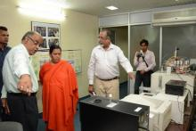 Hon'ble Union Minister, Water Resources, River Development and Ganga Rejuvination visiting the Nuclear Hydrology Laboratory on October 26, 2015